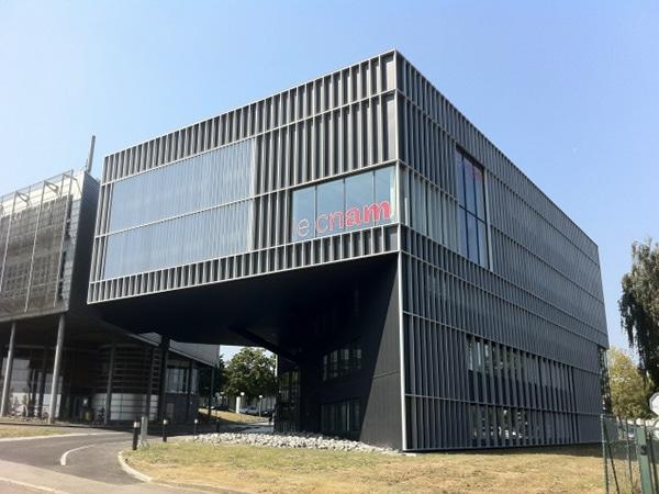 Vue d'ensemble du bâtiment du CNAM de Nantes
