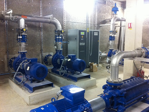 Usine de production d'eau potable construite par EGDC