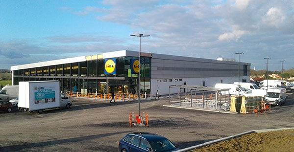 EGDC réalise le Lidl de Bressuire dans le cadre d'un projet de bâtiment industriel et commercial