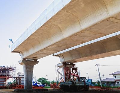 construction d'un pont par EGDC