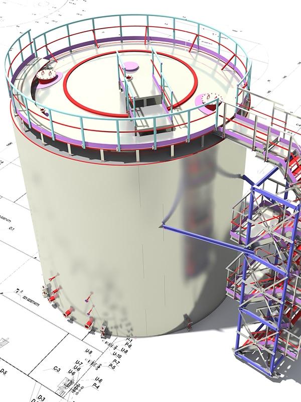 Plan 3D grâce au BIM pour un révservoir